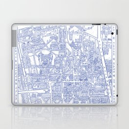 PRINCETON university map NEW JERSEY dorm decor Laptop & iPad Skin