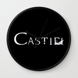 Castiel with Feather White Wall Clock