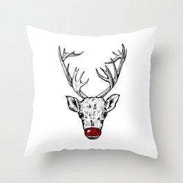 Chritsmas Reindeer Throw Pillow