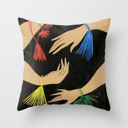 Tasseled Hands Throw Pillow
