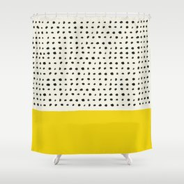 Sunshine x Dots Shower Curtain
