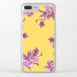 DECORATIVE YELLOW MODERN ART FLORAL Clear iPhone Case
