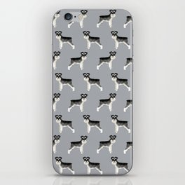 Schnauzer minimal basic dog art pattern design perfect gifts for schnauzers dog breed iPhone Skin