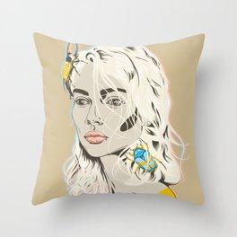 Stop bugging me Throw Pillow