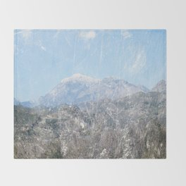Snow-capped Mountains Throw Blanket