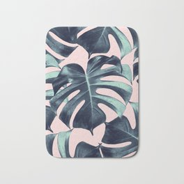 Tropical Monstera Leaves Dream #3 #tropical #decor #art #society6 Bath Mat