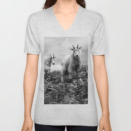 MOUNTAIN GOATS // 1 Unisex V-Neck