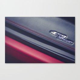 458 Spyder Red Canvas Print
