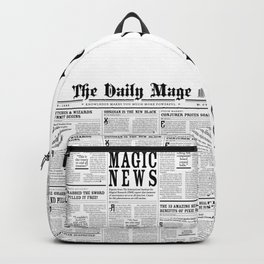 The Daily Mage Fantasy Newspaper Backpack