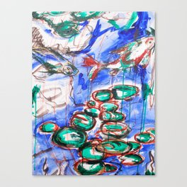 Up Stream Canvas Print
