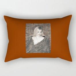 Alyssa in Wintery Faux Fur Rectangular Pillow