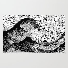 The great wave of Kanagawa. Hokusai Rug