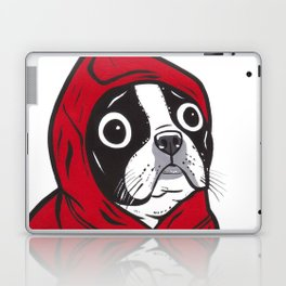 Red Hoodie Boston Terrier Laptop & iPad Skin