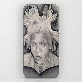 """Immortalizing in Stone"" Jean-Michel Basquiat Drawing iPhone Skin"