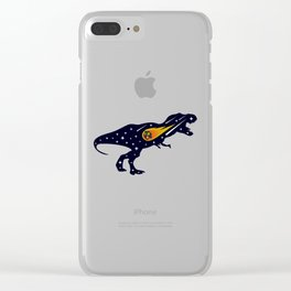 Dinosaur and meteorite strike #society6 #decor #buyart #artprint Clear iPhone Case