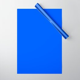 Tropical Blue Solid Color Wrapping Paper