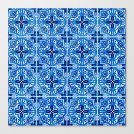 Sevilla - Spanish Tile Canvas Print