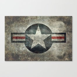 Stylized US Air force Roundel Canvas Print