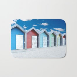 'Beach huts' Northumberland Bath Mat