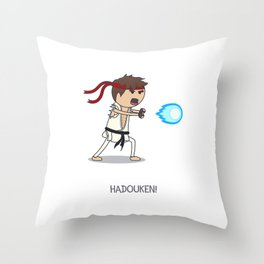 Hadouken! Throw Pillow