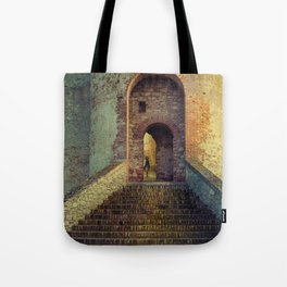 Medieval Fortress Tote Bag