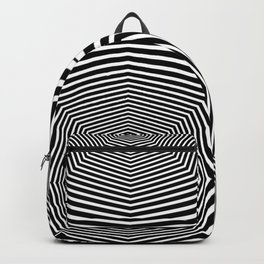 Black an White Hypnosis Backpack