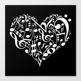 Invert Music love Canvas Print
