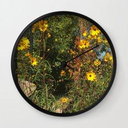 Mountain Flowers Wall Clock