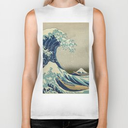 The Great Wave off Kanagawa Biker Tank