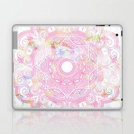 Pastel pink mandala ornament design Laptop & iPad Skin