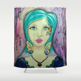 Wings Girl Shower Curtain