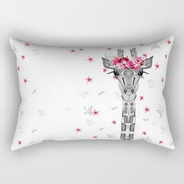 FLOWER GIRL GIRAFFE Rectangular Pillow