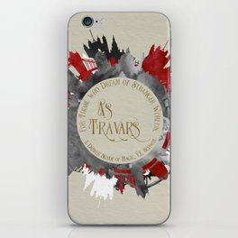 As Travars. For those who dream of stranger worlds. A Darker Shade of Magic. iPhone Skin