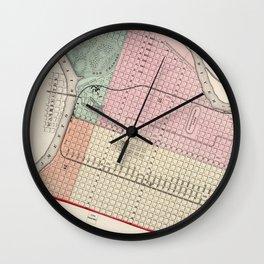 Vintage Map of Sacramento CA (1873) Wall Clock