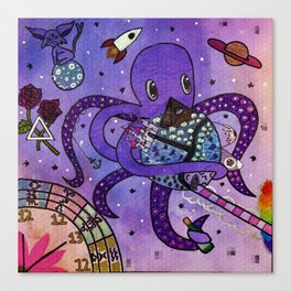 Octopus in Space- Oswald's takeover Canvas Print
