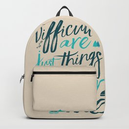 Shackleton quote on difficulties, illustration, interior design, wall decoration, positive vibes Backpack