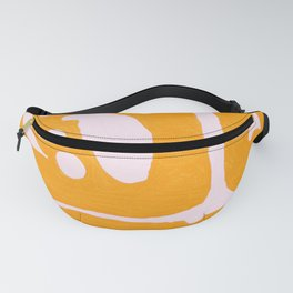 Abstract in Yellow and Cream Fanny Pack