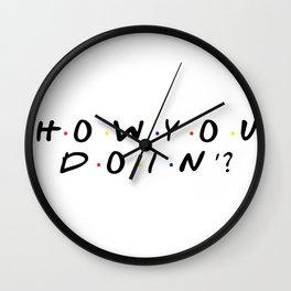 Friends - How You Doin'? Wall Clock