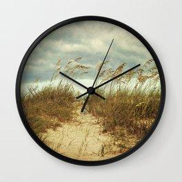 Beach Path Wall Clock