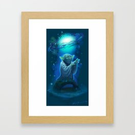 Yoda and the Force Framed Art Print