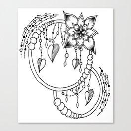 "Zentangle Inspired ""Rubi"" Canvas Print"