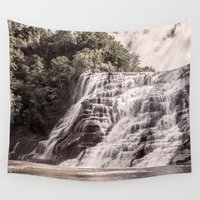 geology Wall Tapestries featuring Waterfall in all its beauty by General Design Studio