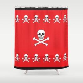 Classic skull duvet Shower Curtain