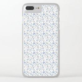Ditsy  Hydrangeas Clear iPhone Case