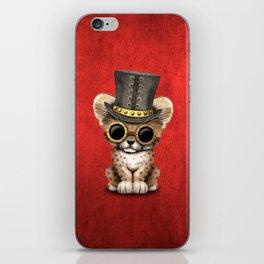 Steampunk Baby Cheetah Cub iPhone Skin