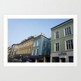 Buildings in Oslo Art Print