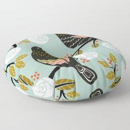 Winterbirds Floor Pillow