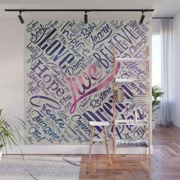 Inspirational Motivational Word Cloud Art Wall Mural