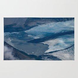 Aerial Glacier - Alaska Rug