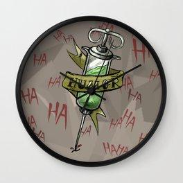 Injecting Humor Tattoo Wall Clock